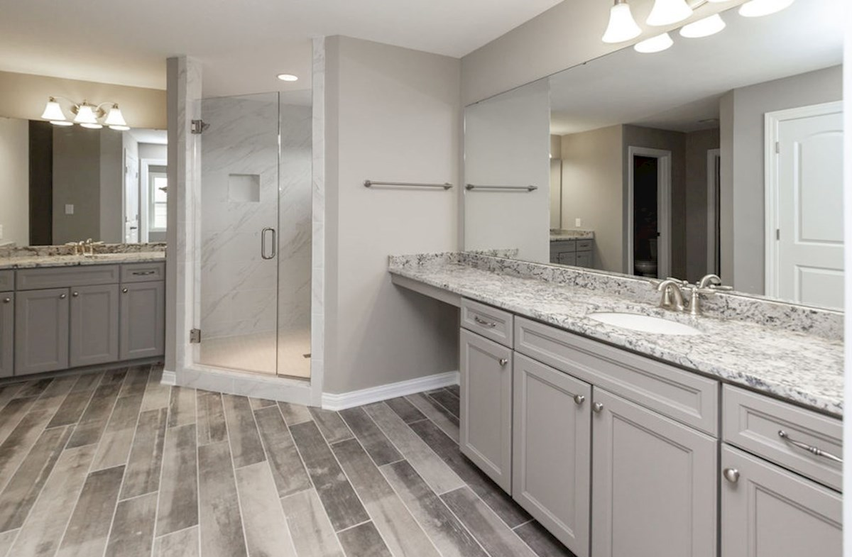 Hampshire Meridian Collection  Oakhill Oakhill master bath with tiles spa shower