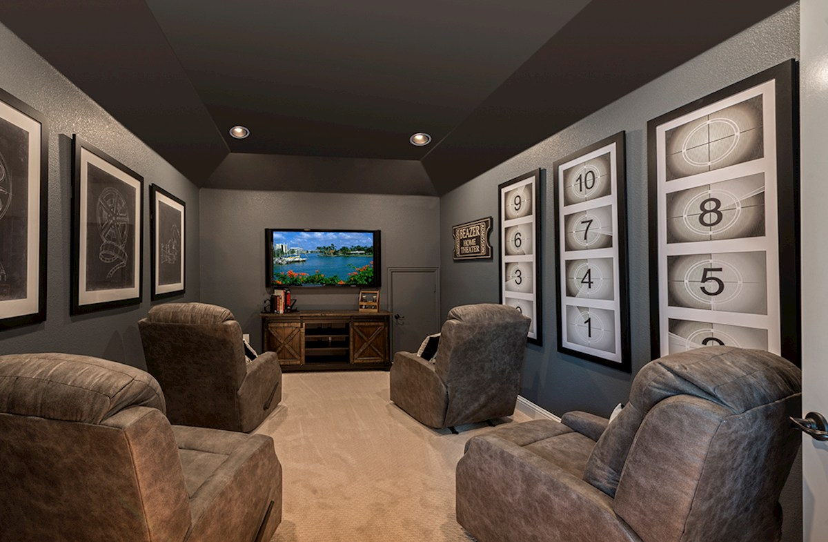 Canyon Falls Summerfield large media room