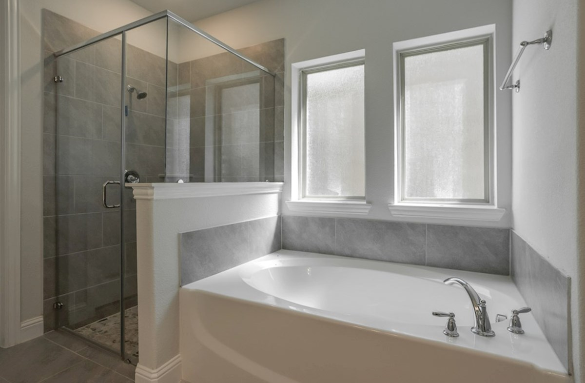 Brookhaven quick move-in Brookhaven master bathroom with separate tub and shower