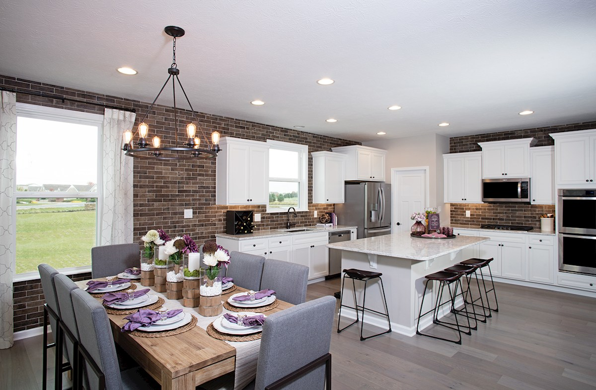 Shelby boasts an open kitchen and breakfast area