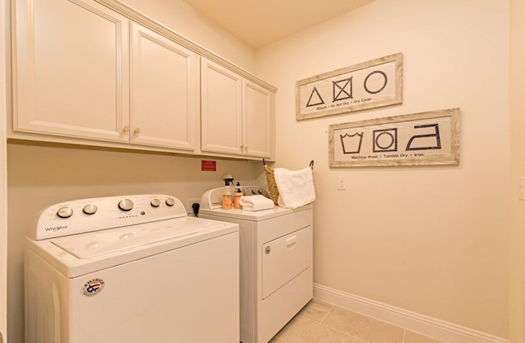 Clifton laundry room with upper cabinets