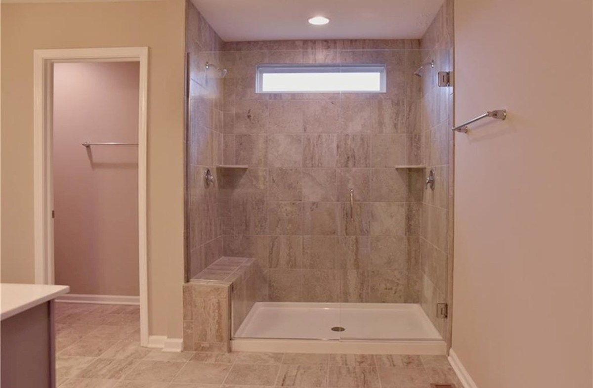 Shelby quick move-in Spa shower in master bath