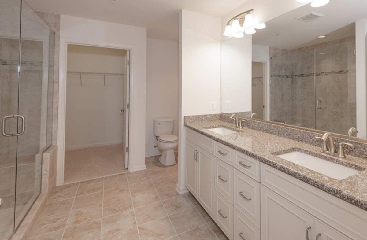 Fenwick quick move-in Spacious master bath with dual vanities