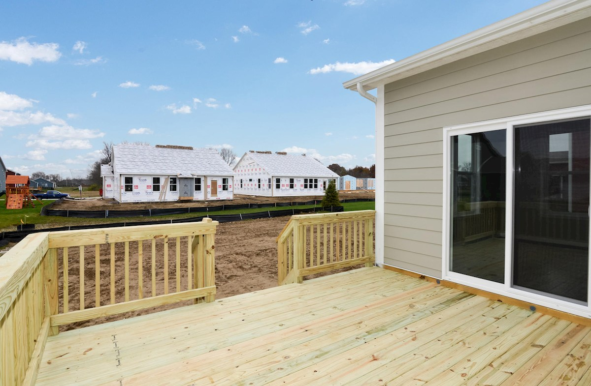 Porter quick move-in Spacious back deck for outdoor entertaining