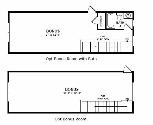 Main floor plan for Optional 2nd Floor