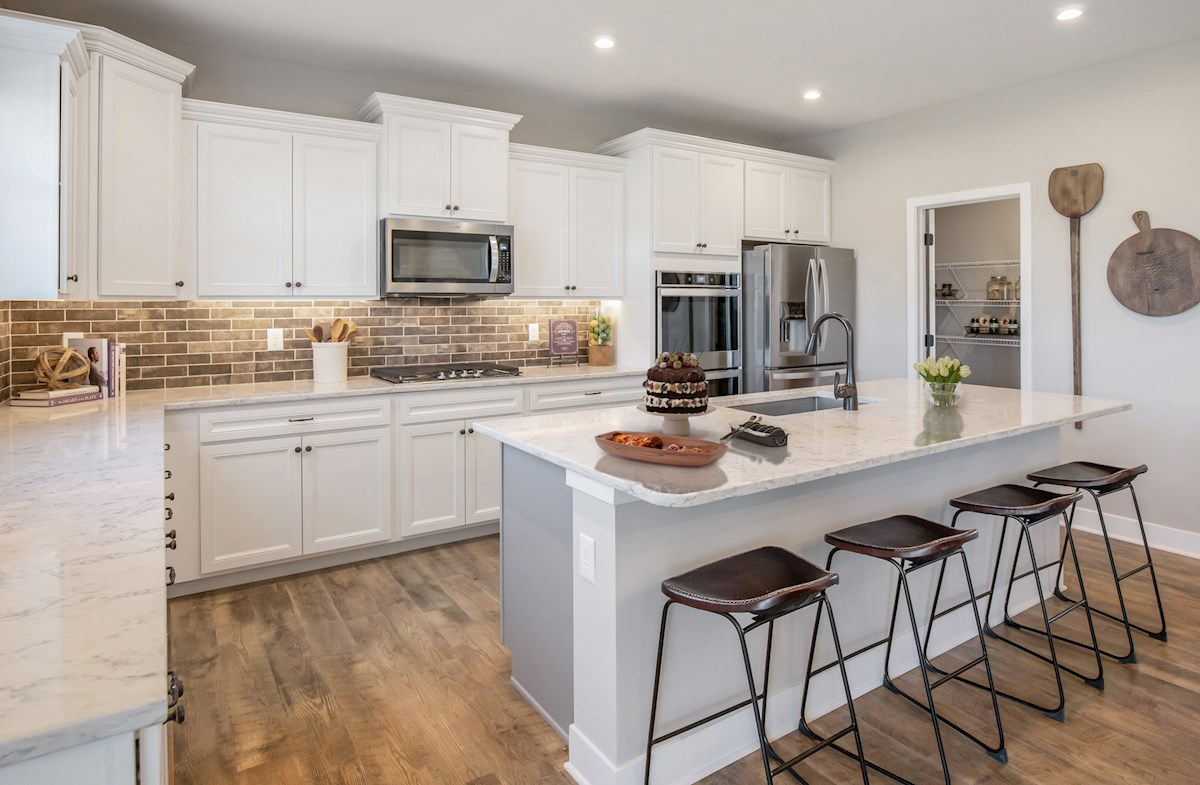 open concept kitchen with spacious island