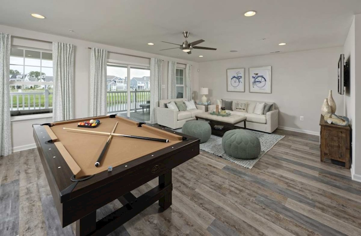 Harbor Crest at Bayside Fenwick Recreation room featuring enough additional living space for a pool table