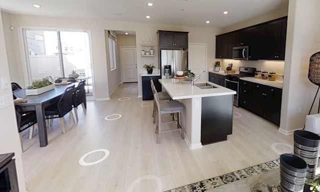 Interior virtual tour of the Almond floorplan at The Cottages