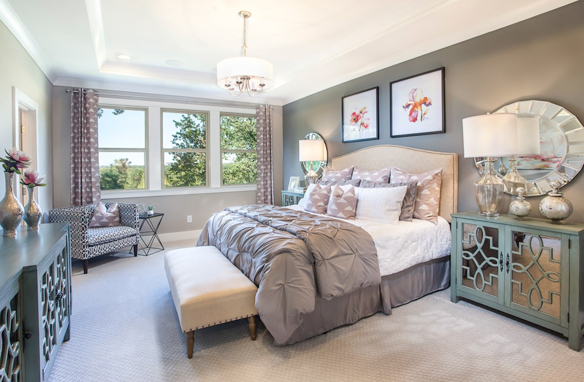 Towns at North Peachtree Camden private master suite