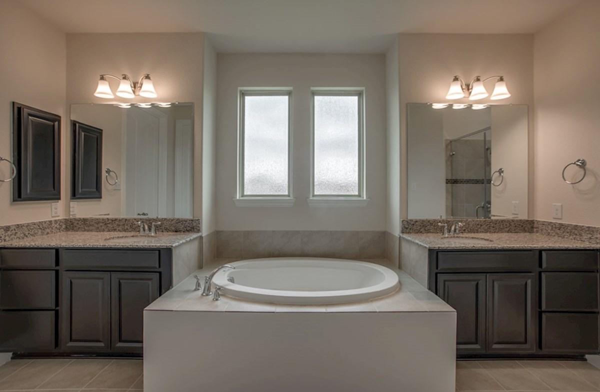 Degrey quick move-in Degrey master bathroom with two vanities