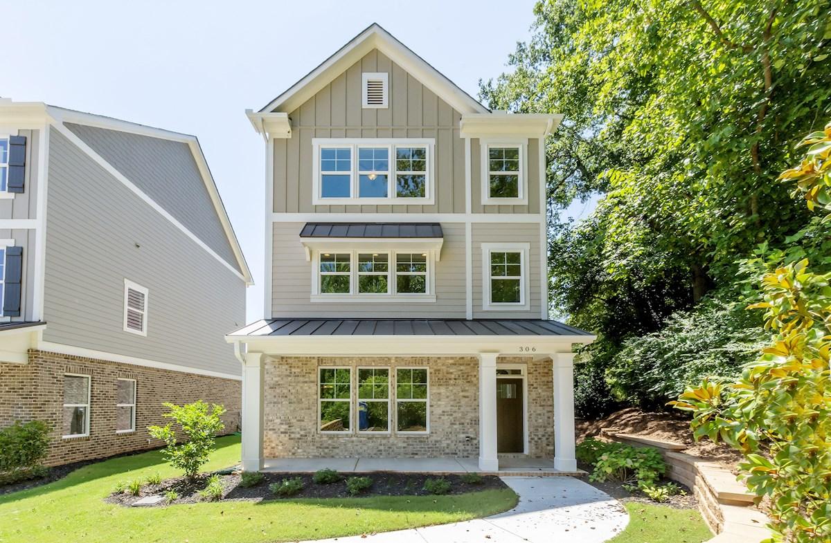 3-story single-family home exterior
