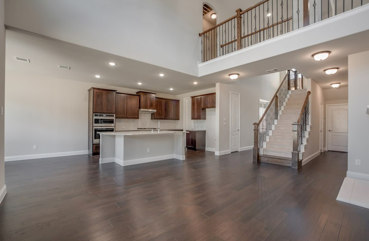 Aberdeen quick move-in open great room and kitchen with wood floors