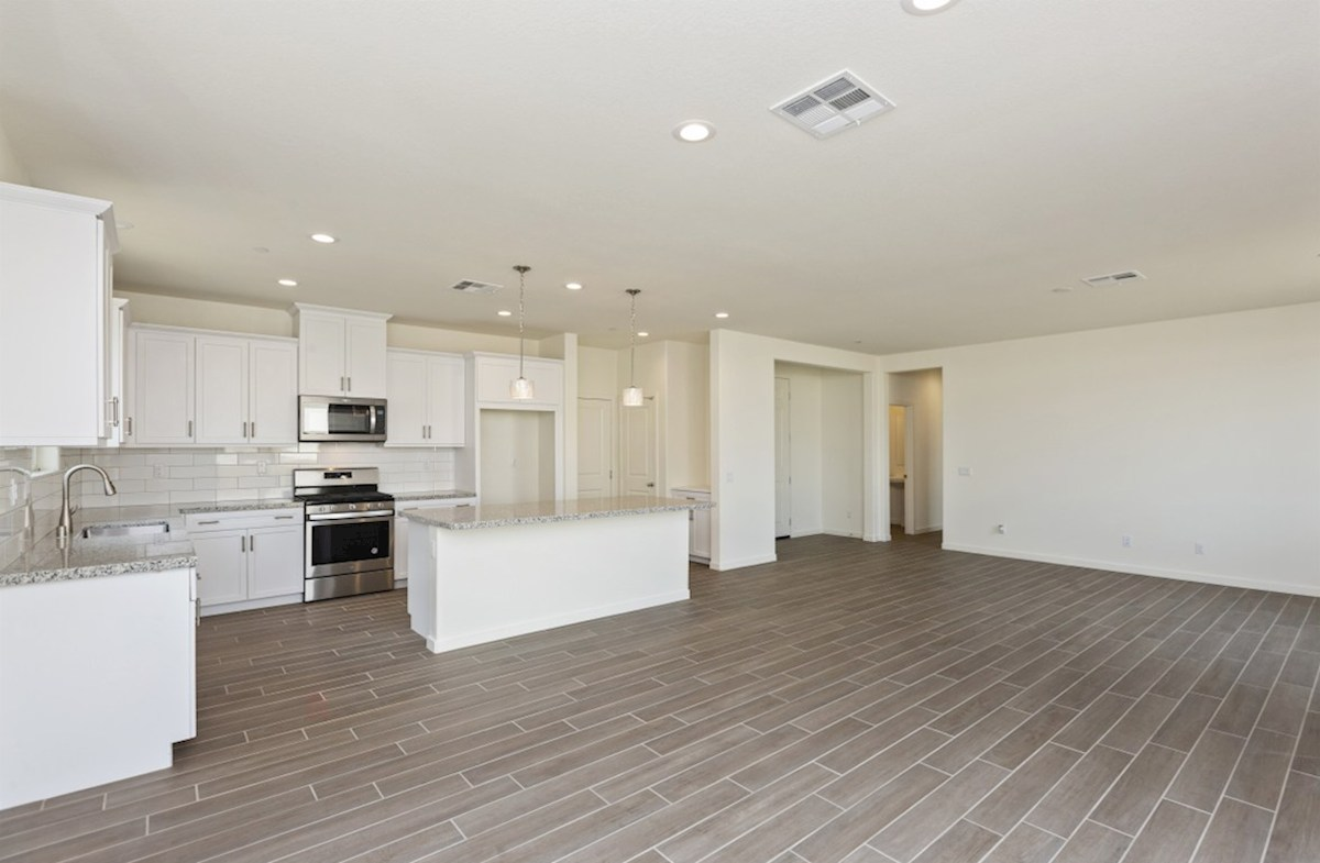 Chardonnay quick move-in Entertain guests while preparing gourmet meals in this open-concept kitchen and great room