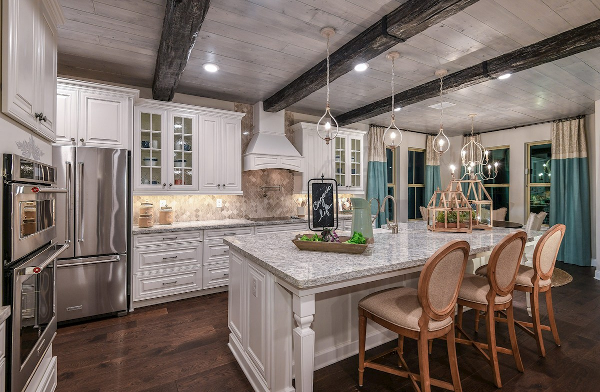 Belle Vie Wilson granite countertops in kitchen