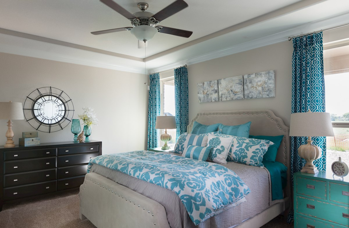 Capri master bedroom with tray ceilings