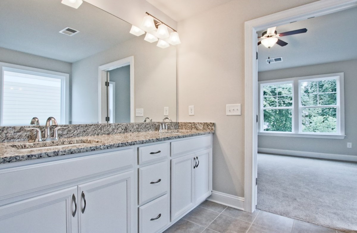 Norwich quick move-in Master Bath with dual sinks