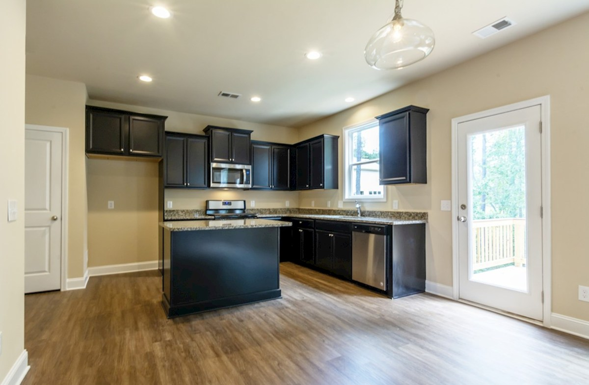 Milford Point Duval Kitchen with granite countertops