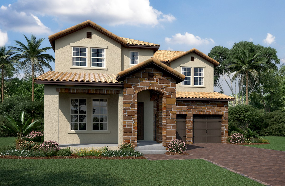 Logan II Elevation Tuscan N