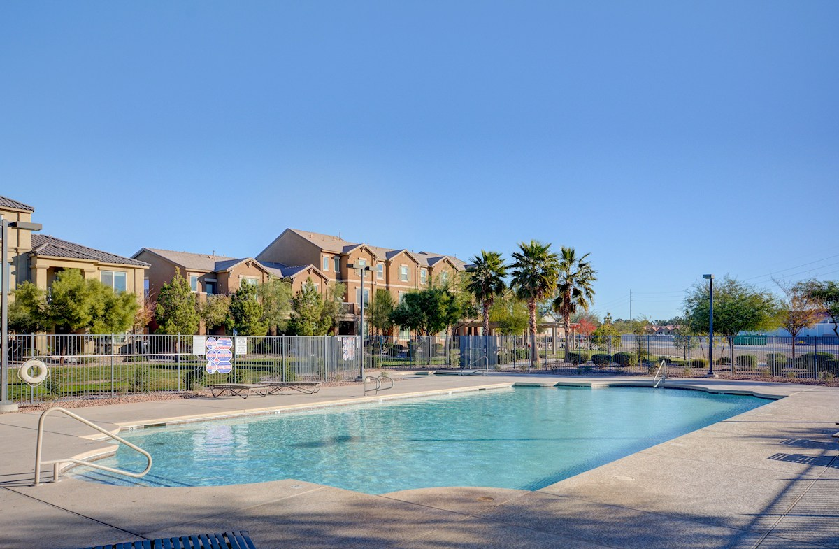 Clubhouse features community pool