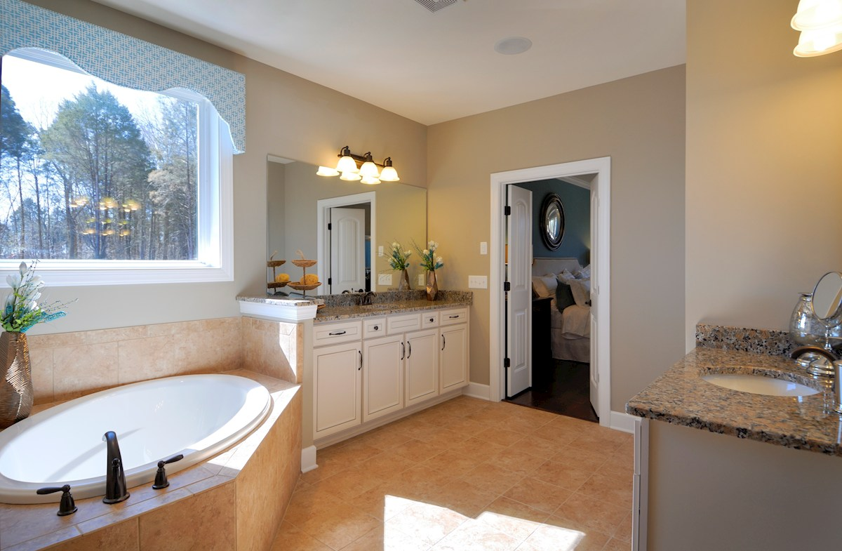 Owl Creek Amherst spa-inspired master bath
