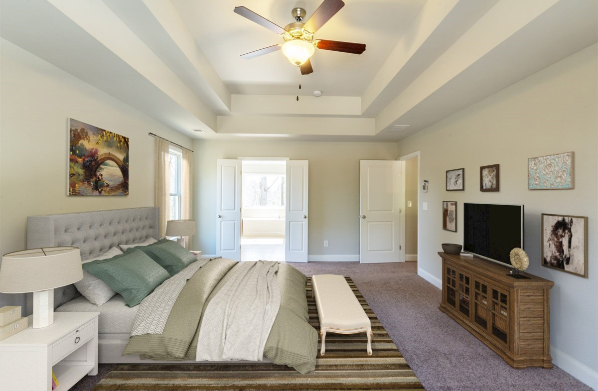Bradshaw quick move-in Master Bedroom with tray ceilings