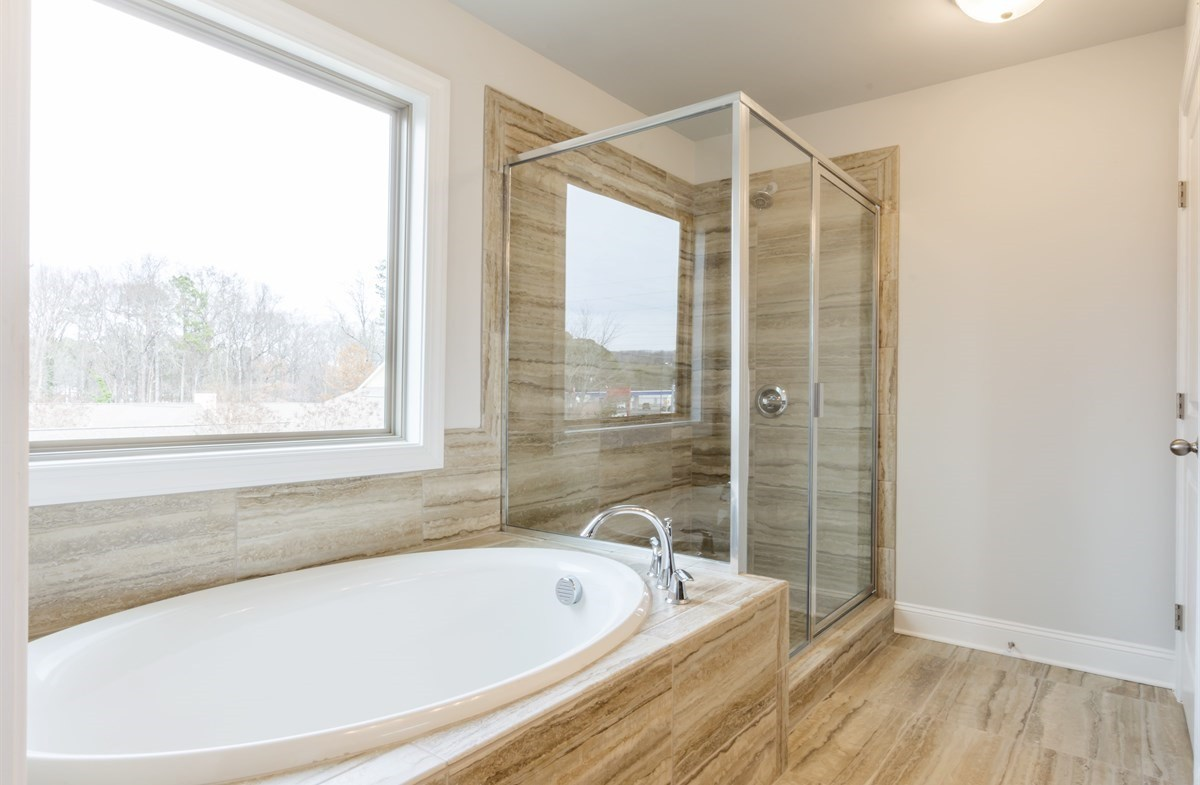 Piedmont quick move-in Master Bathroom with soaker tub
