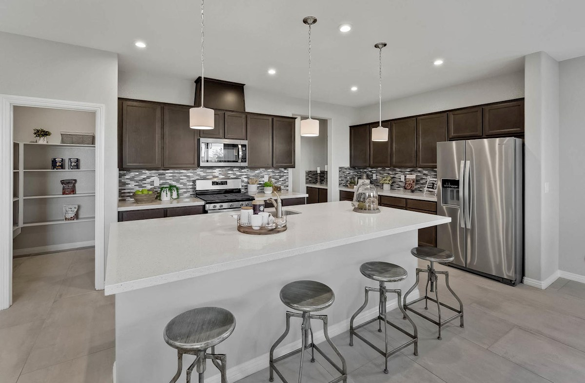 Sedona kitchen island opens to great room