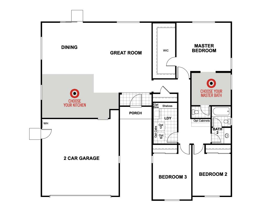 Plan 1 home plan in the legacy collection winchester ca for Beazer homes floor plans