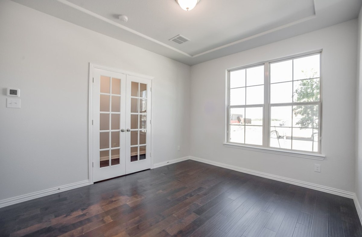 Whitney quick move-in private study with French doors and wood floors
