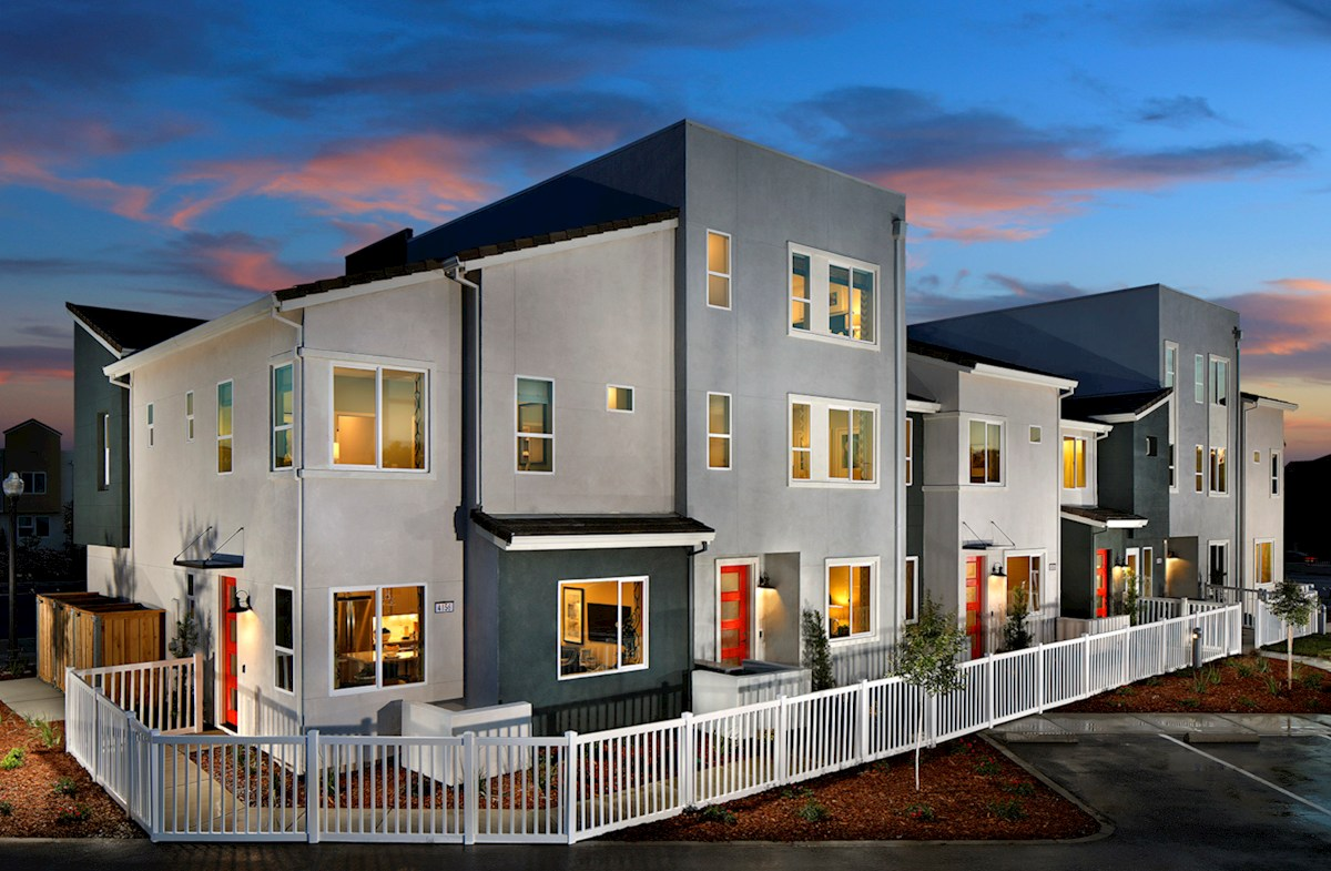 model townhome exteriors
