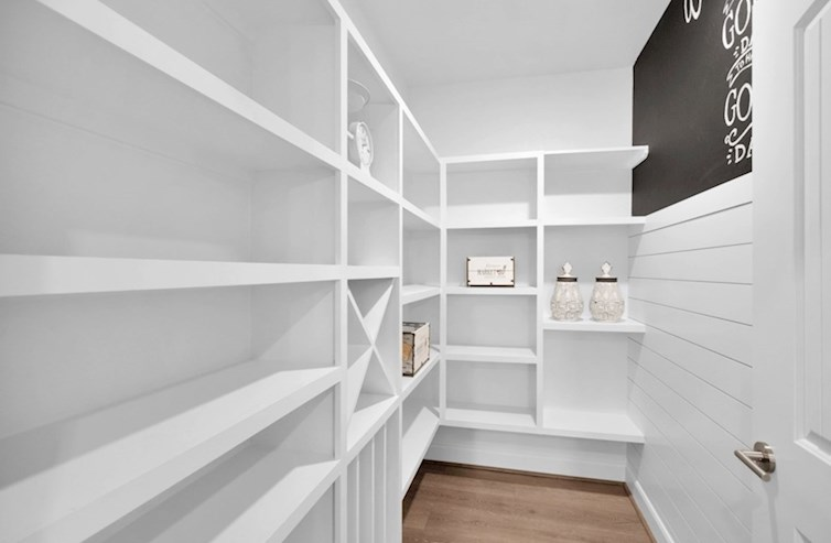 Dorset pantry with wine rack and storage