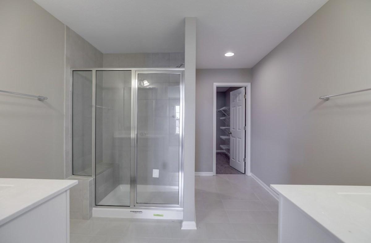 Juniper quick move-in master bath with walk-in shower