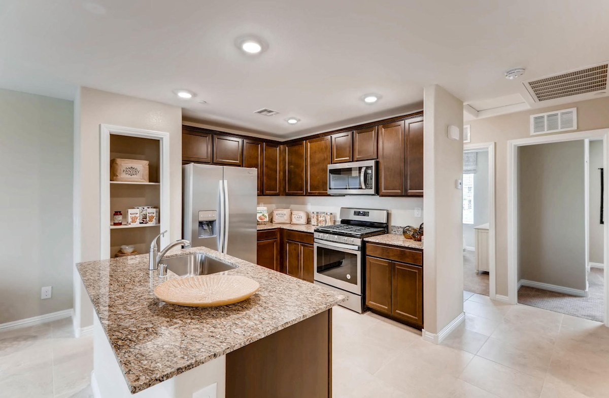 Bedford Kitchen features granite countertops