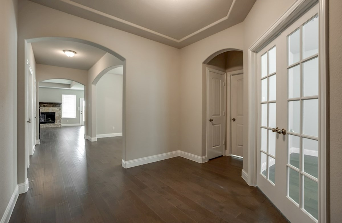 Avalon quick move-in entry features wood flooring