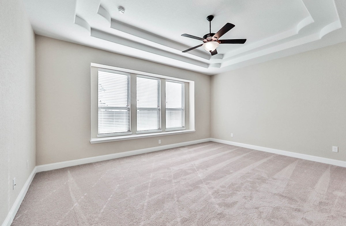Gruene quick move-in master bedroom with tray ceiling