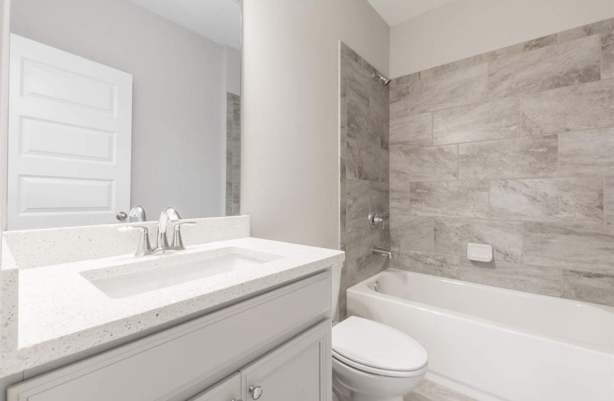 Morningside Towns Piedmont II Secondary Bathroom with quartz countertops