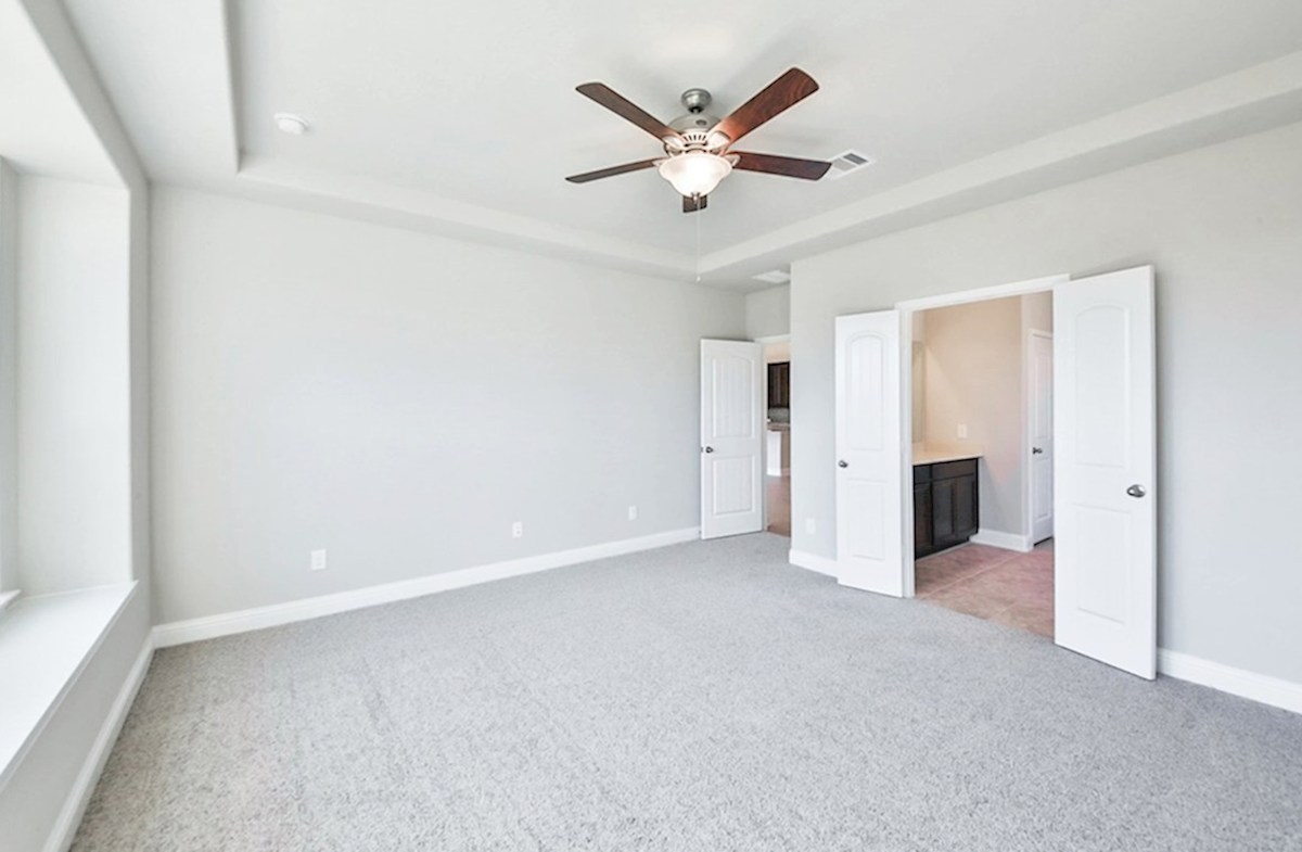 Cameron quick move-in master bedroom with carpet and window seat