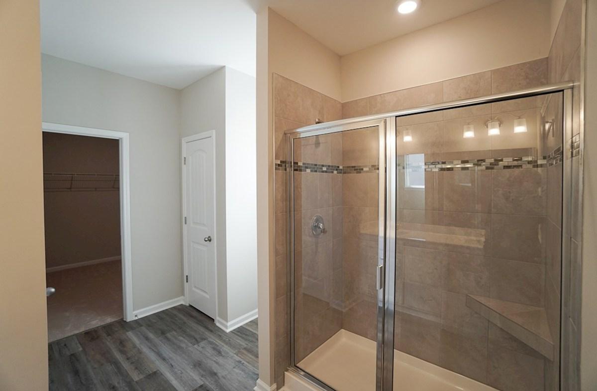 Summerton quick move-in master bathroom features walk-in shower