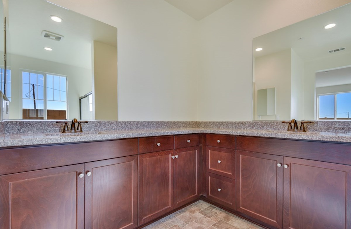 Agave quick move-in Separate vanities give you more space and privacy