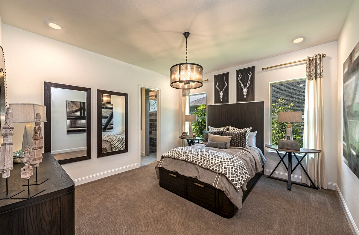 The Grove at Craig Ranch Hamilton Hamilton master bedroom with natural light
