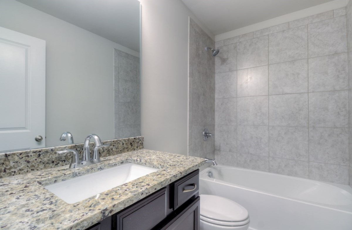 Highland Park Norwich Secondary Bathroom with granite countertops