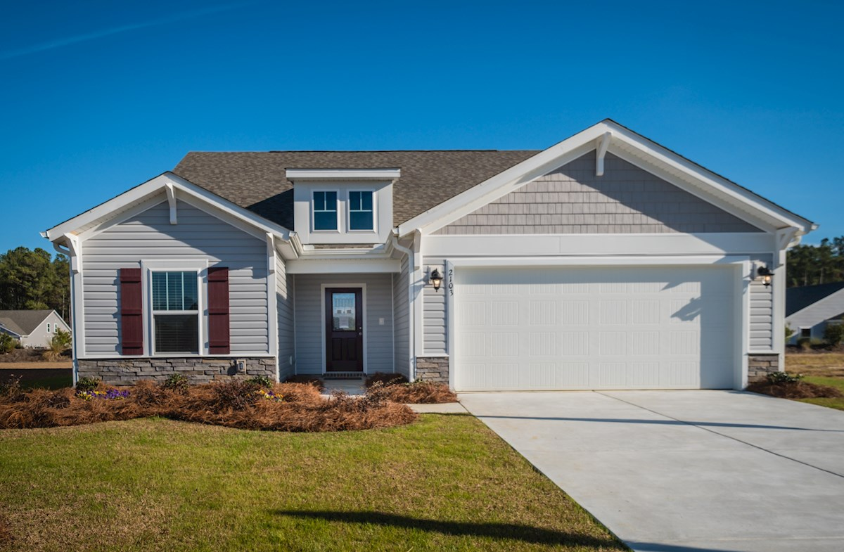 Summerton COA quick move-in exterior with 2-car garage