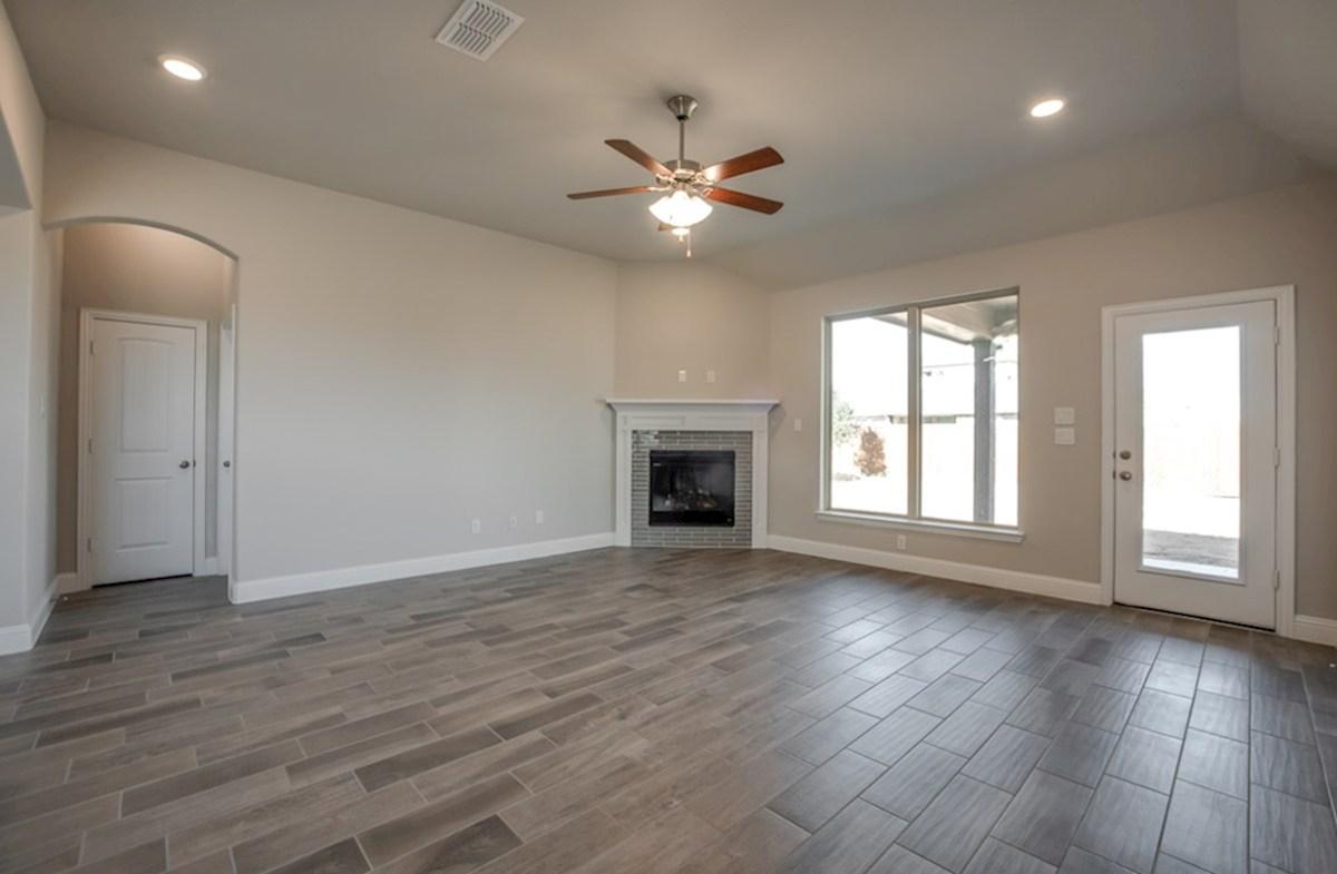 Silverado quick move-in Silverado great room with fireplace