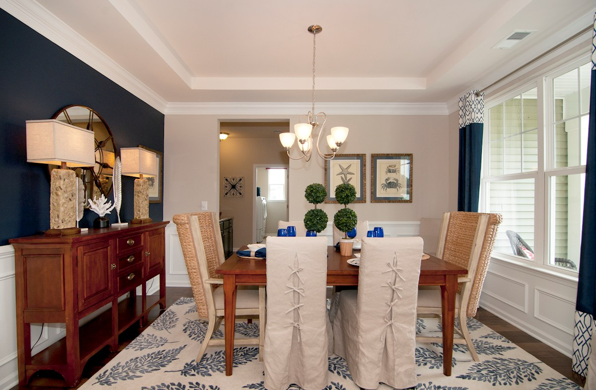 Cameron Village Millbrook Dining room with tray ceiling