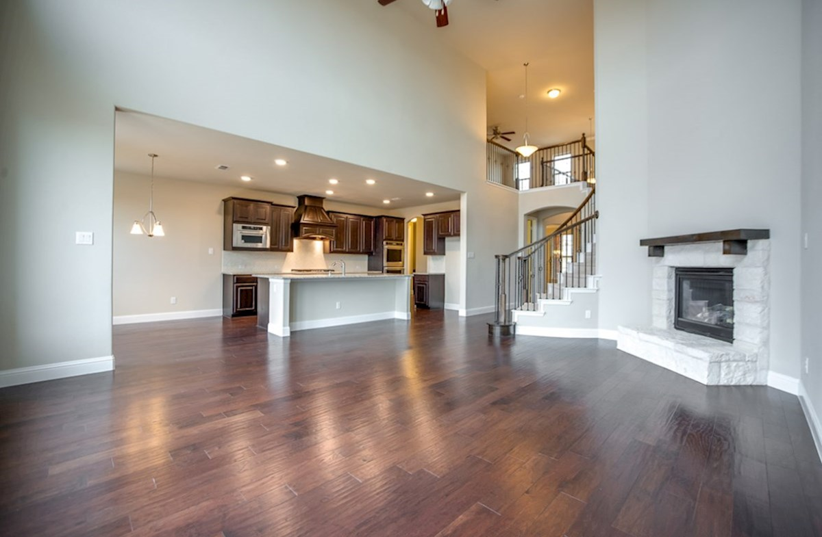Madison quick move-in hard wood flooring in living areas