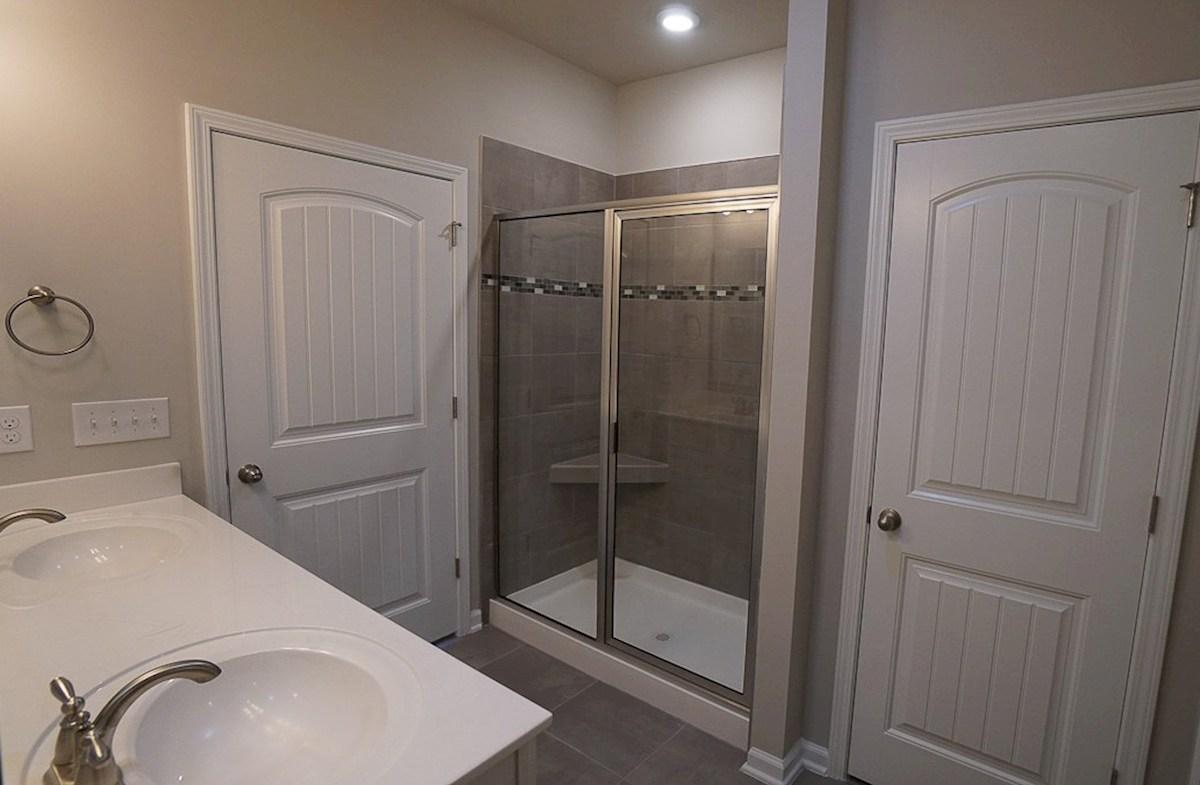 Wisteria quick move-in walk-in-shower in master bathroom