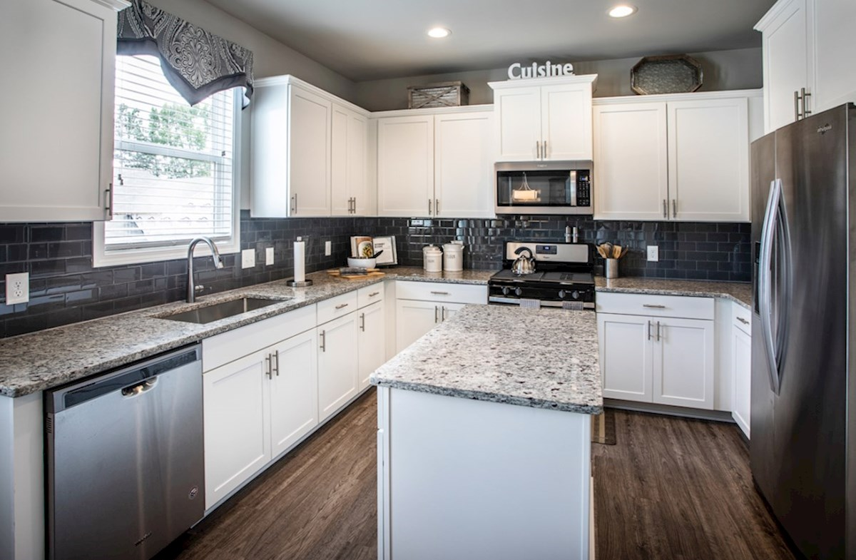 Milford Point Ridgecrest Kitchen with granite countertops