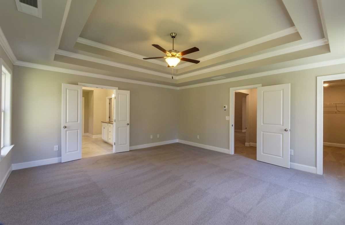 Brentwood quick move-in Master Bedroom with tray ceiling