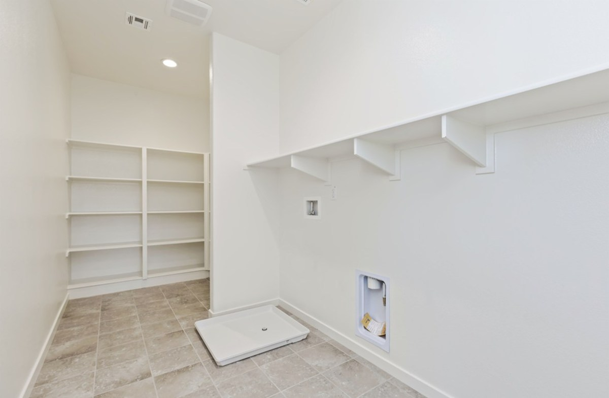 Reserve quick move-in Oversized laundry room so you can fit an ironing board and optional cabinets or countertops