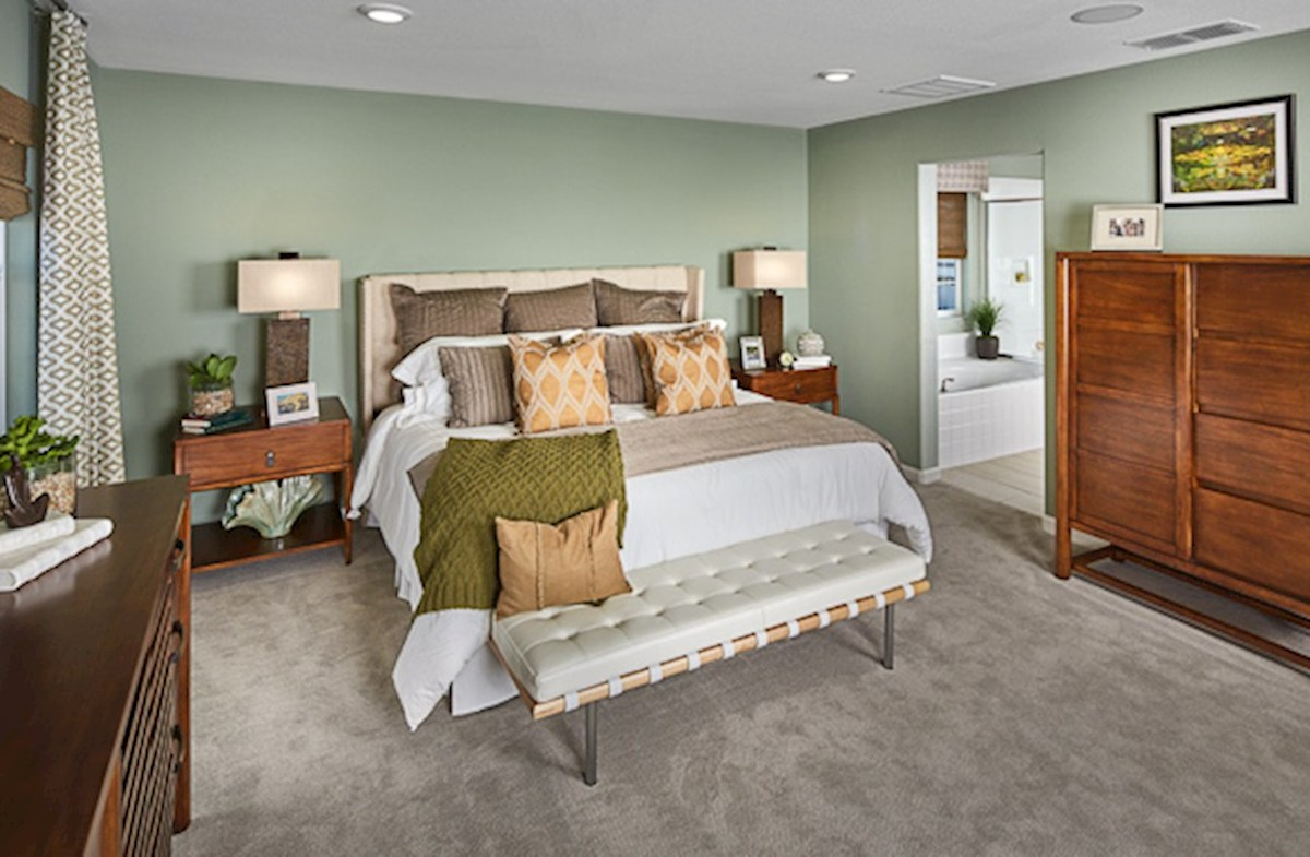 Natomas Field Residence 2 light-filled master bedroom